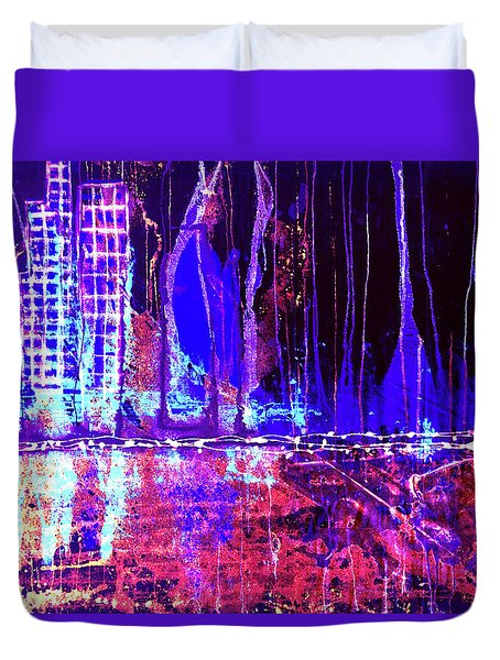 City By The Sea Right Duvet Cover