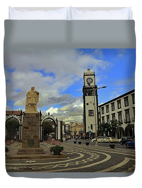 Duvet Cover featuring the photograph City Gate  by Tony Murtagh