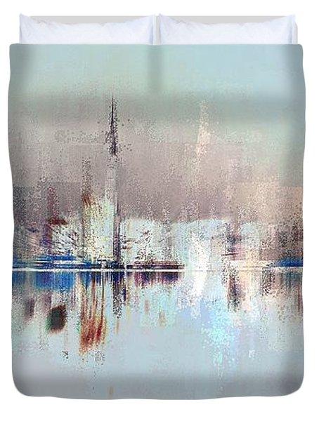 City Of Pastels Duvet Cover