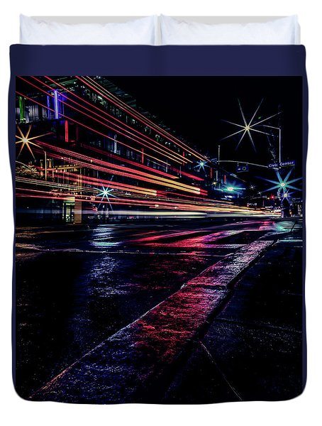 City Streaks Duvet Cover