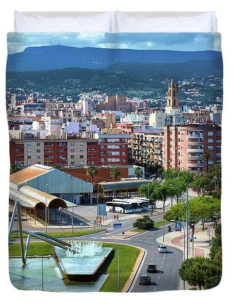 Cityscape In Reus, Spain Duvet Cover