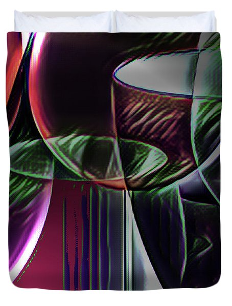 Claret Abstract Duvet Cover
