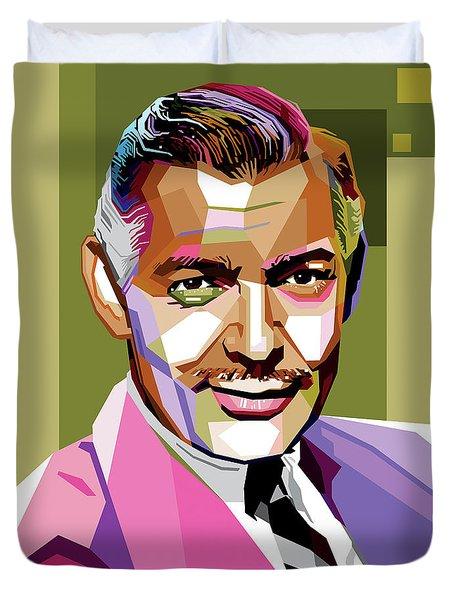 Clark Gable Duvet Cover