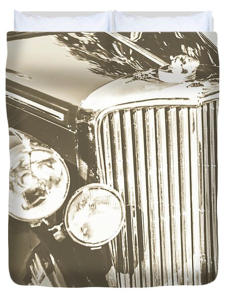 Classic Car Chrome Duvet Cover