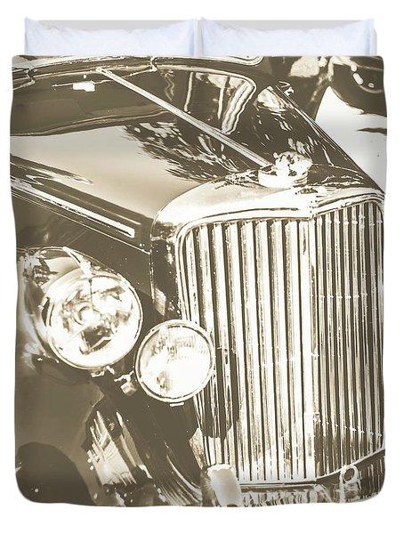 Classic Car Chrome Duvet Cover