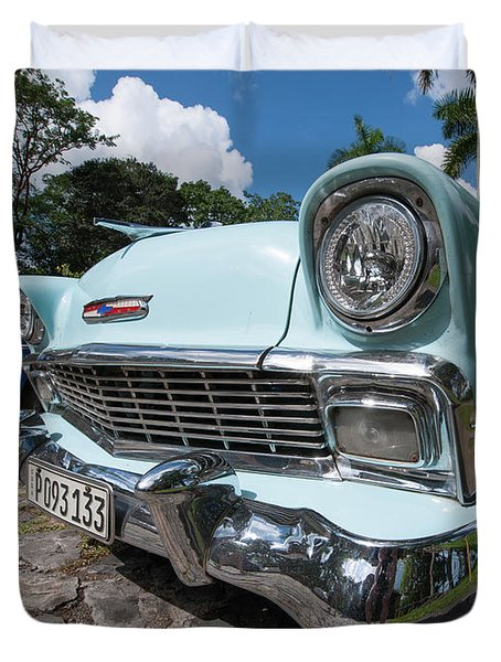 Classic Cuban Chevy Duvet Cover