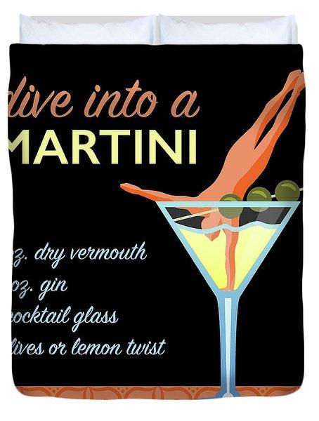 Classic Martini Duvet Cover