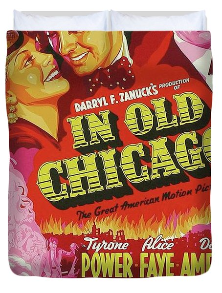 Classic Movie Poster - In Old Chicago Duvet Cover
