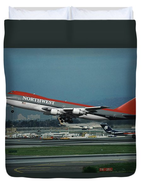 Classic Northwest Airlines Boeing 747 Duvet Cover