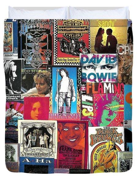 Classic Rock Collage 6 Duvet Cover