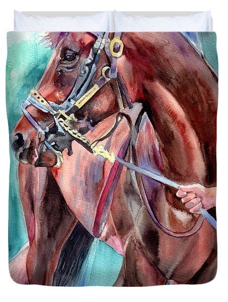 Classical Horse Portrait Duvet Cover