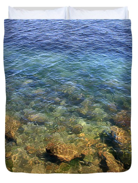 Clear Water At Morro Bay Duvet Cover