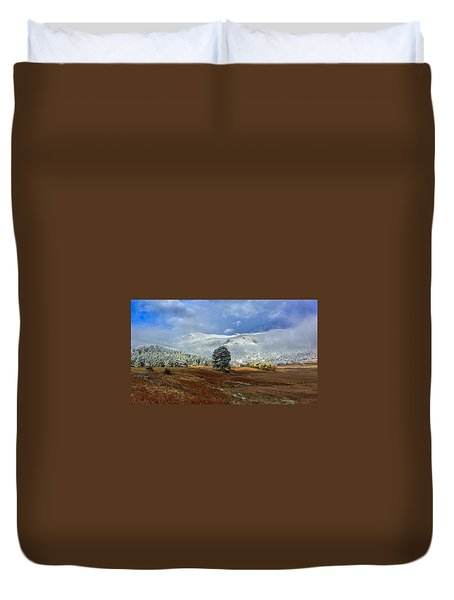 Duvet Cover featuring the photograph Clearing Storm by Dan Miller