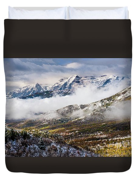 Duvet Cover featuring the photograph Clearing Storm by TL Mair