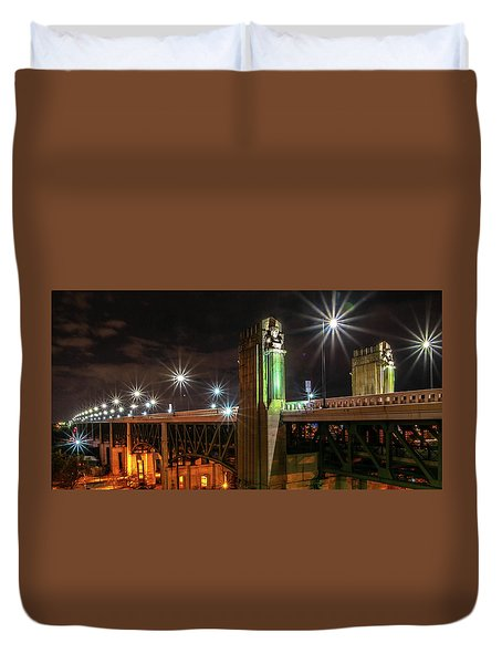Cleveland Lights  Duvet Cover
