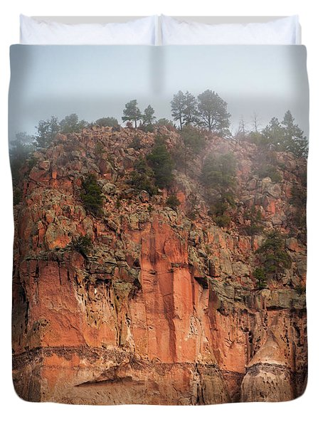 Cliff Face Hz Duvet Cover