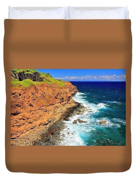 Cliff On Pacific Ocean Duvet Cover