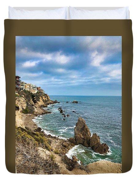 Cliffs Of Corona Del  Mar Duvet Cover