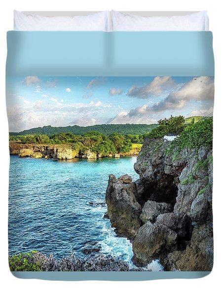 Cliffside Views Portland Jamaica Duvet Cover