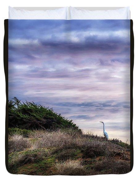 Cliffside Watcher Duvet Cover