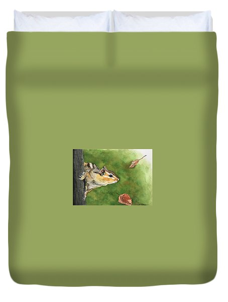 Clinging On To Fall Duvet Cover