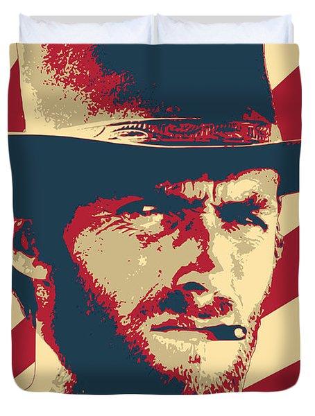Clint Eastwood Blondie Retro Propaganda Duvet Cover