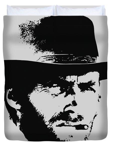Clint Eastwood Minimalistic Pop Art Duvet Cover