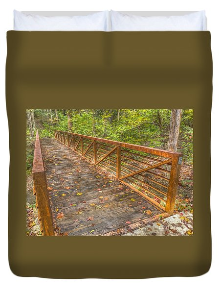 Close Up Of Bridge At Pine Quarry Park Duvet Cover