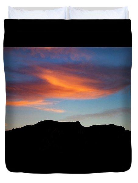Cloud Over Mt. Boney Duvet Cover