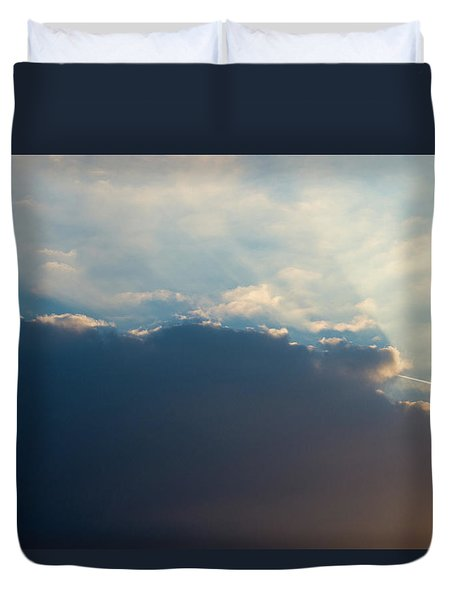 Duvet Cover featuring the photograph Cloud-scape 1 by Stewart Marsden