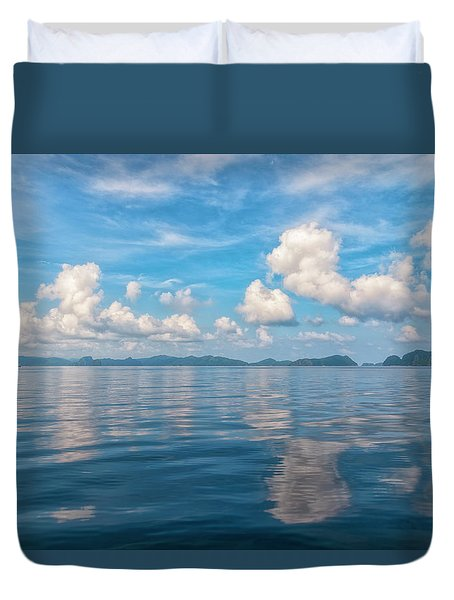 Duvet Cover featuring the photograph Clouded Bliss by Russell Pugh