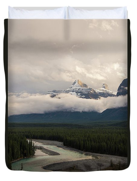 Duvet Cover featuring the photograph Clouds In The Valley by Alex Lapidus