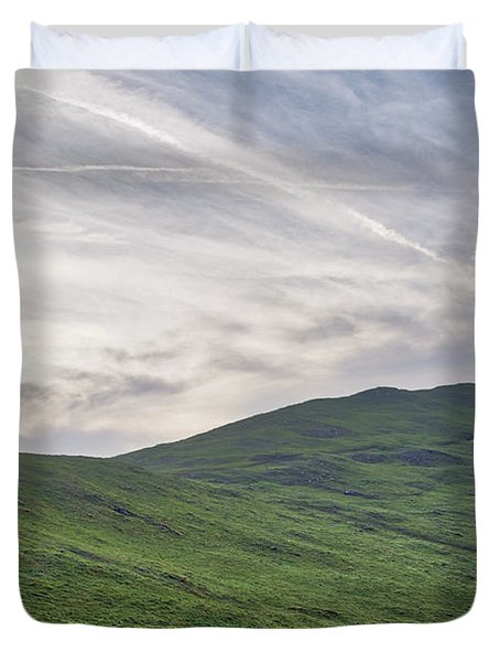 Clouds Over Thorpe Cloud Duvet Cover