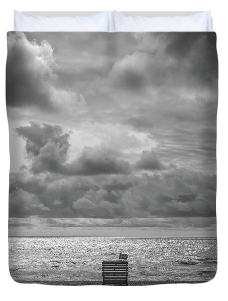 Cloudy Morning Rough Waves Duvet Cover