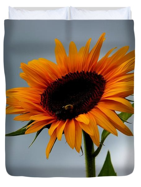 Cloudy Sunflower Duvet Cover
