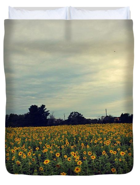 Cloudy Sunflowers Duvet Cover