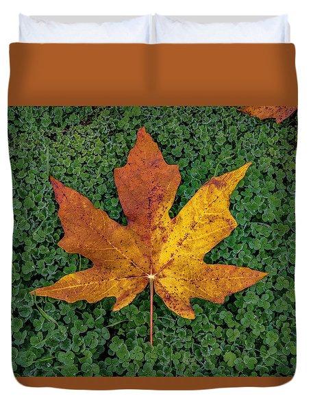 Clover Leaf Autumn Duvet Cover