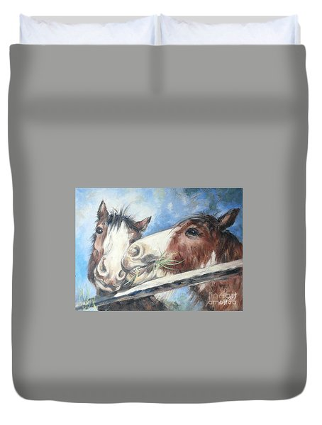 Clydesdale Pair Duvet Cover