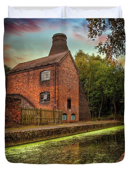 Coalport Bottle Kiln Sunset Duvet Cover