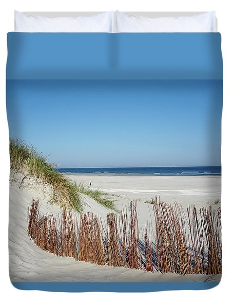Duvet Cover featuring the photograph Coast Ameland by Anjo Ten Kate