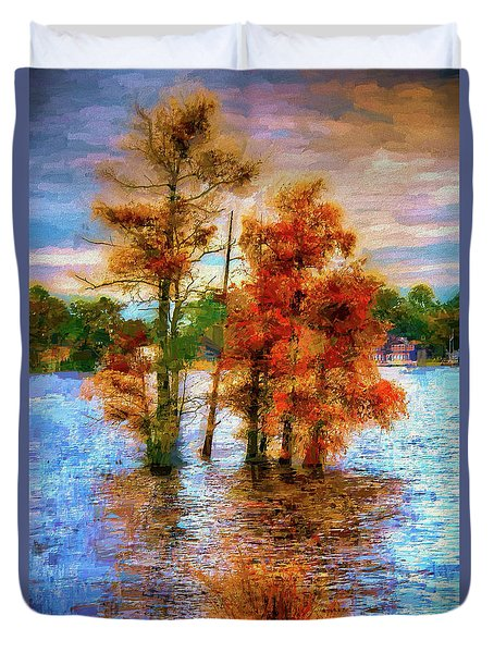 Coastal Autumn In North Carolina Ap Duvet Cover