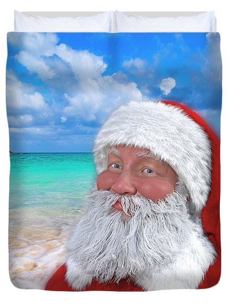 Coastal Christmas Greetings Design 1 Duvet Cover