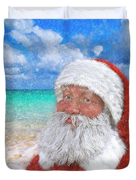 Coastal Christmas Greetings Design 2 Duvet Cover
