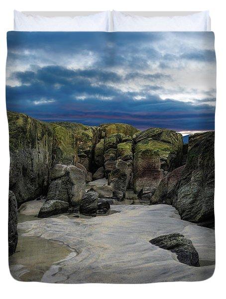 Coastline Castle Duvet Cover