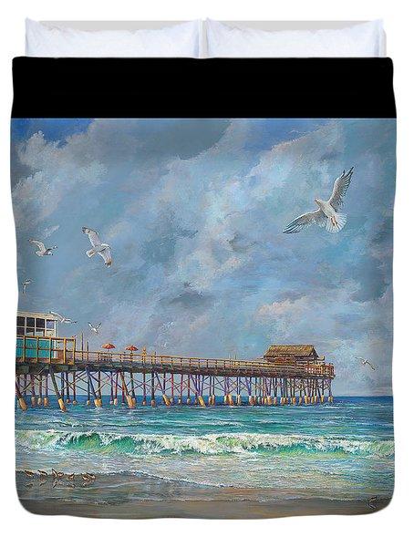 Cocoa Beach Pier Duvet Cover