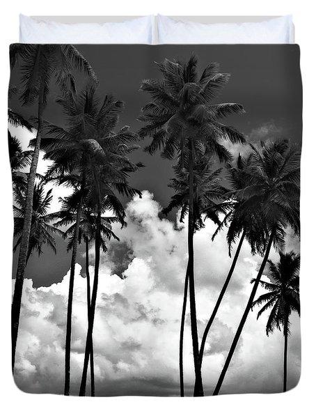 Coconut Trees At Mayaro Duvet Cover