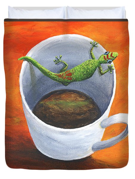 Coffee With A Friend Duvet Cover