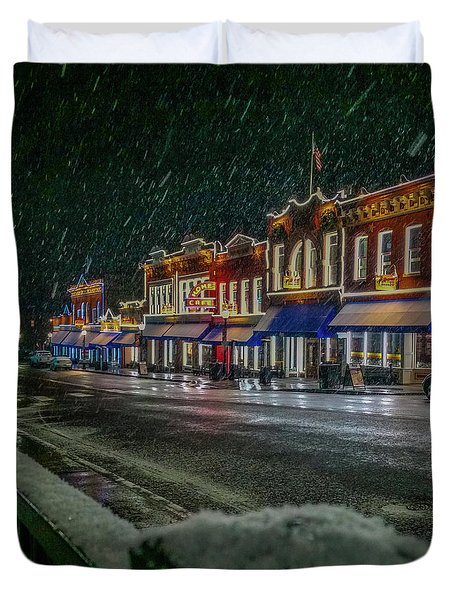 Cold Night In Cripple Creek Duvet Cover