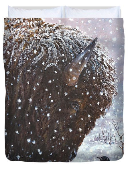Cold Weather Cohorts Duvet Cover