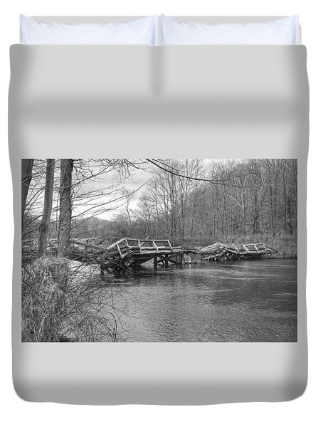 Collapsed Bridge At Waterloo Village Duvet Cover